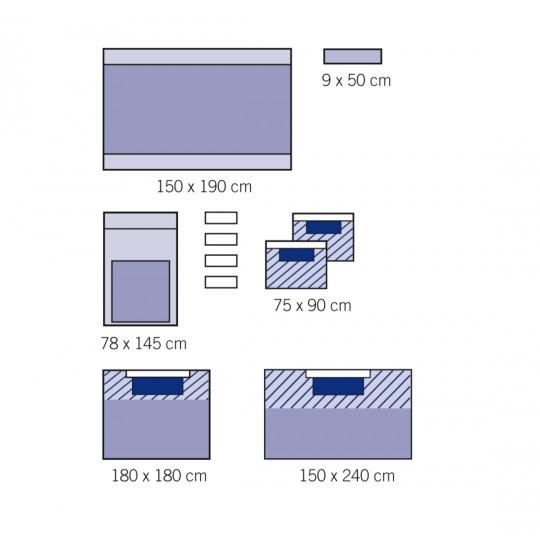 Zestaw uniwersalny z serwetą na stół Mayo 1011-02