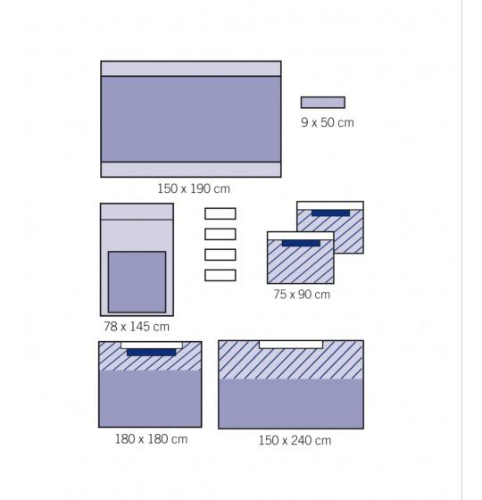 Zestaw uniwersalny wzmocniony z serwetą na stół Mayo 1010-02