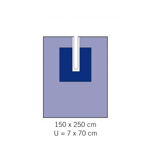 Adhesive drape with cutout 1310-02