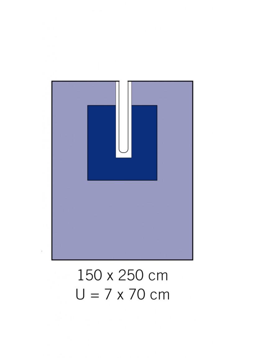 Adhesive drape with cutout 1310-02