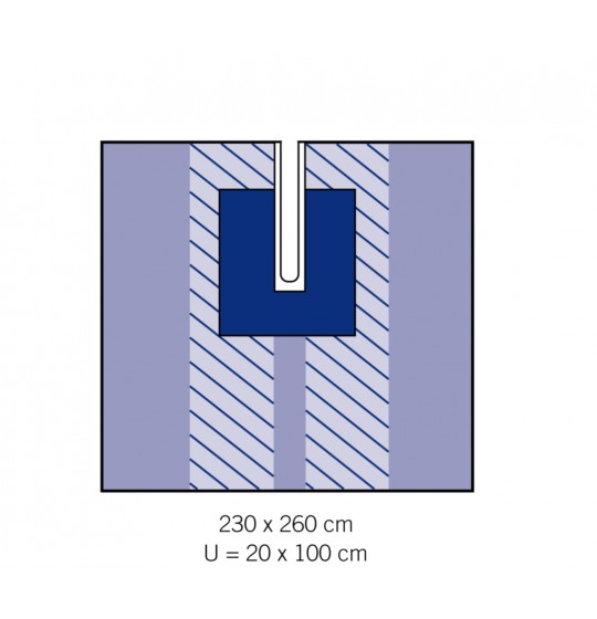Adhesive drape with cutout