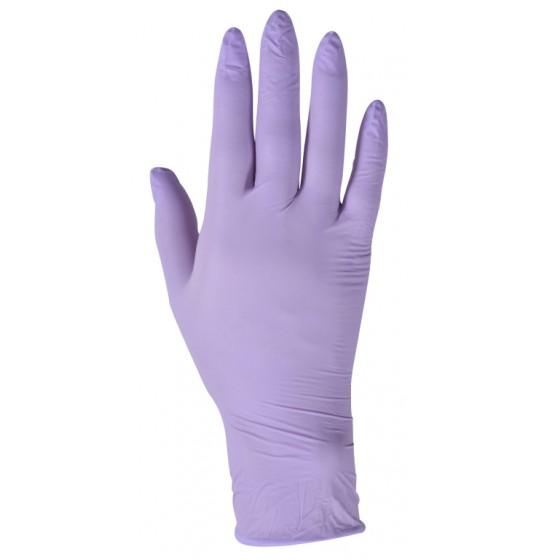 Nitrylowe rękawice, fioletowe
