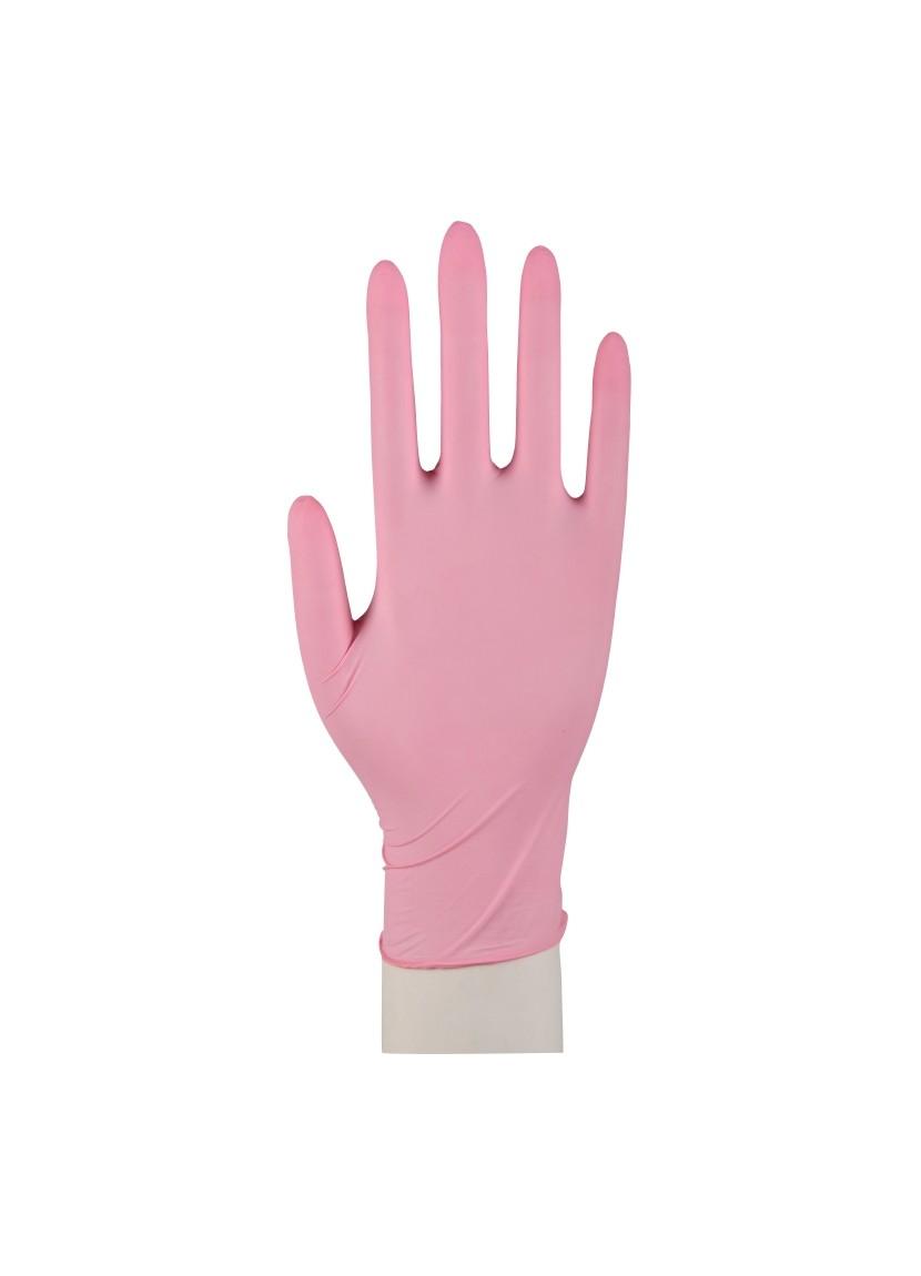 pink nitrile gloves