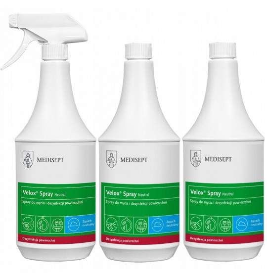 Disinfection Value set: Velox Spray 3x1ltr bottles
