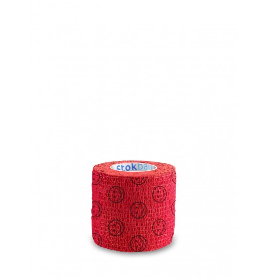 Stokban cohesive bandage smiles on red 5cm